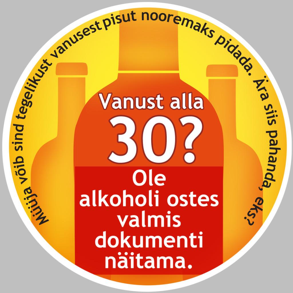 Alkoholi ostmisel laiendatakse dokumendi küsimist kuni 30-aastastele ostjatele