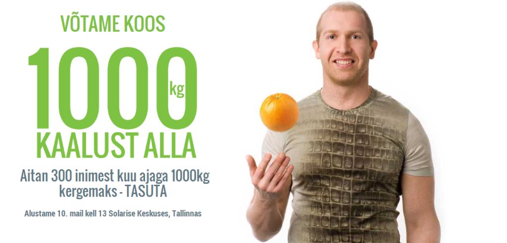 Toitumisspets aitab 300 inimesel tasuta 1000 kg kaotada