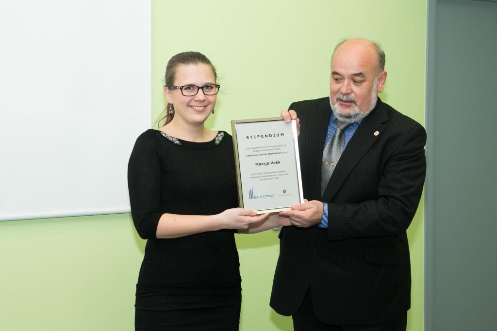Eesti Akadeemiline Farmaatsia Selts ja Gedeon Richter andsid välja esimese stipendiumi
