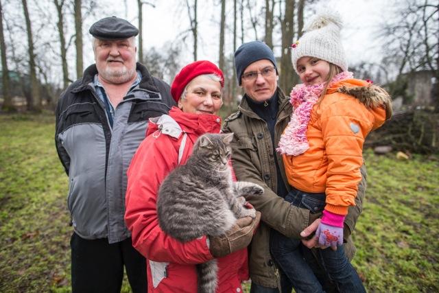Ilme Pau ja tema pere Foto: Hendrik Osula