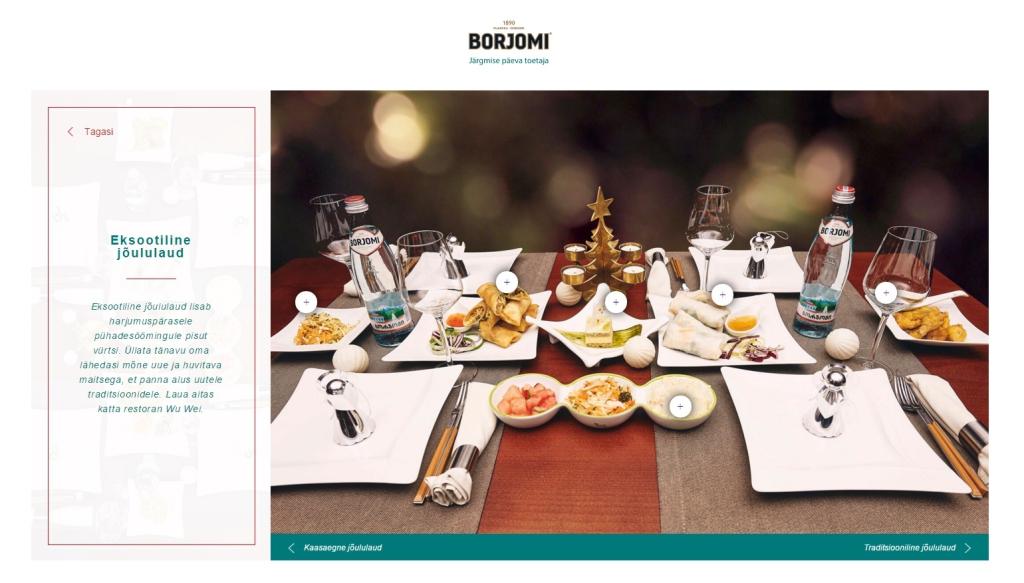 Borjomi koondas valiku jõuluretsepte uuele veebilehele