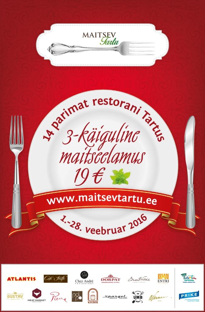 MAITSEV TARTU! Uusi maitseid nautis Tartu restoranides veebruaris üle 7500 inimese