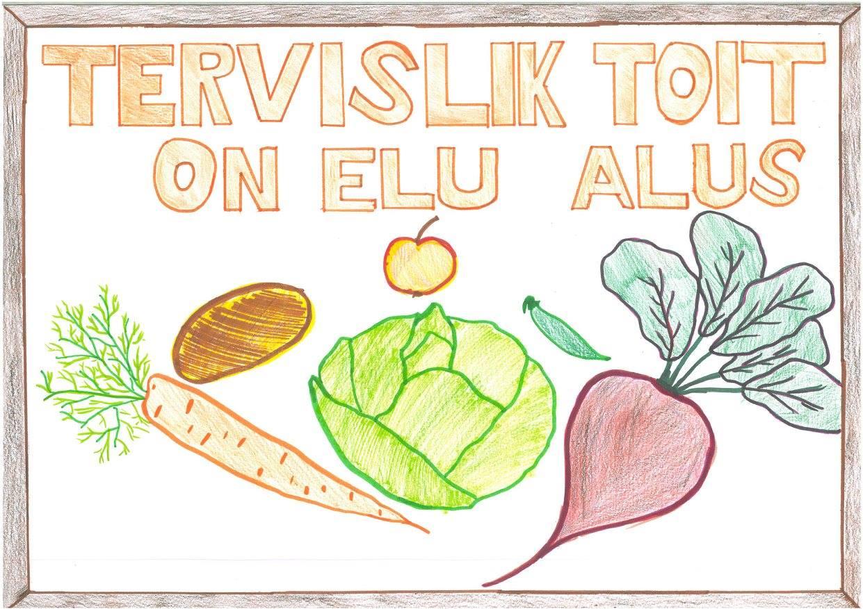 Õpilased kujutasid ideesid, kuidas nad rohkem köögivilju sööksid