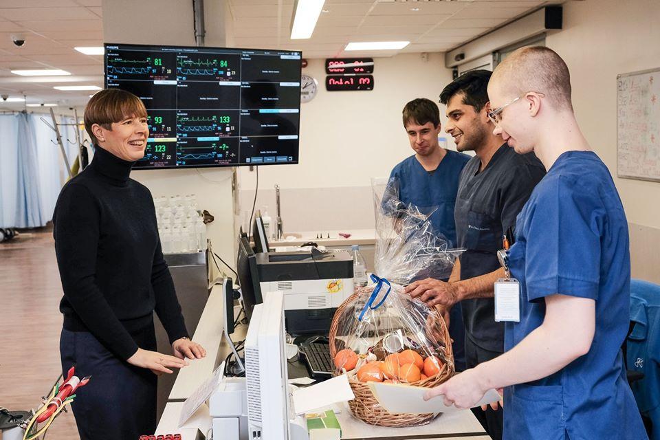 President Kersti Kaljulaid: haiglatöötajad vajavad igakülgset tuge ja mõistmist!