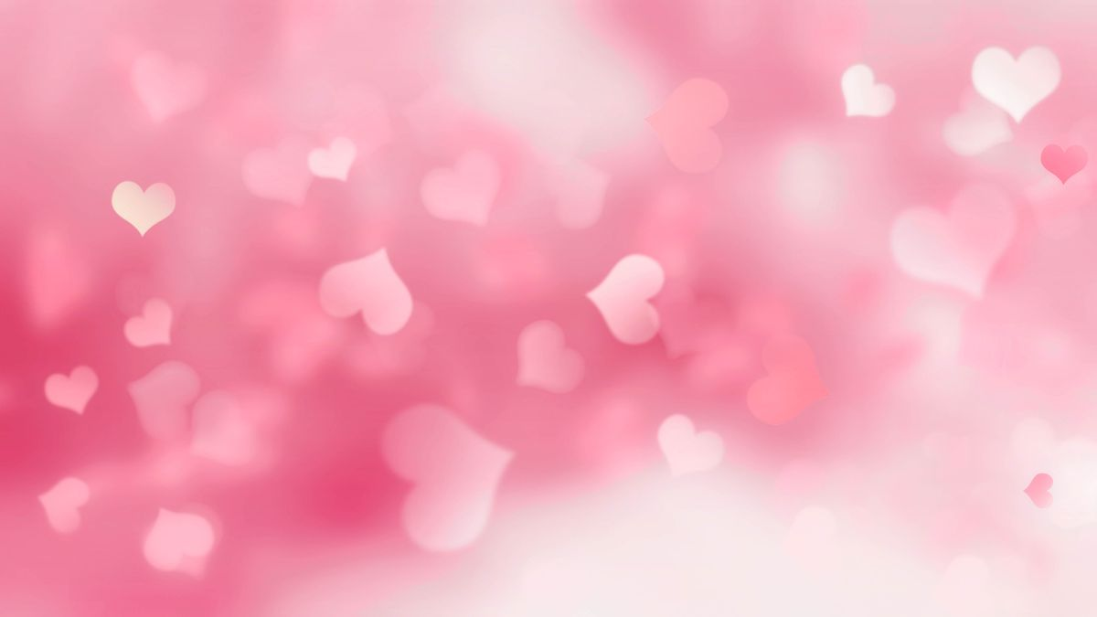 Pink,Background,With,Hearts,Blurred